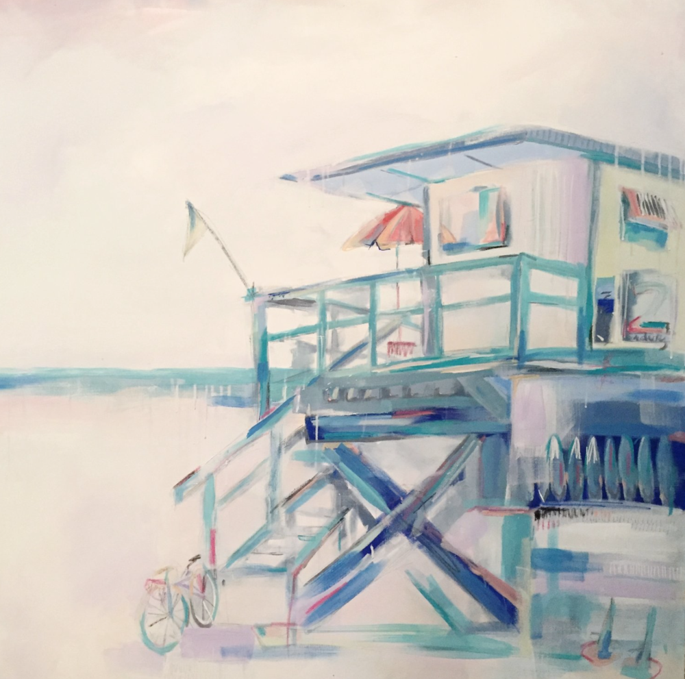 I love the colours in this Lifeguard shack by Andreina.