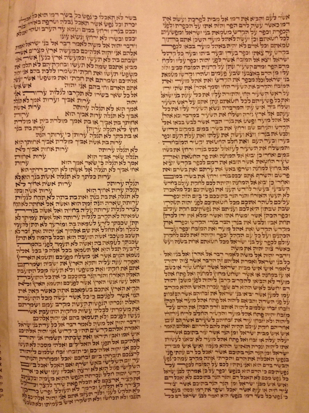 Torah Reading Yom Kippur Mincha