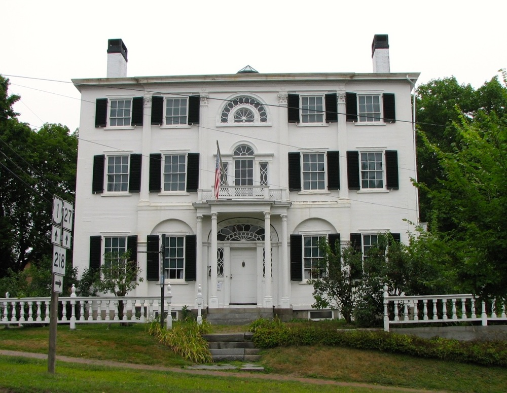 The Nickels-Sortwell House on Main Street is owned and managed by Historic New England and represents the shipping wealth that contributed to Wiscasset's remarkable trove of 18th century homes.