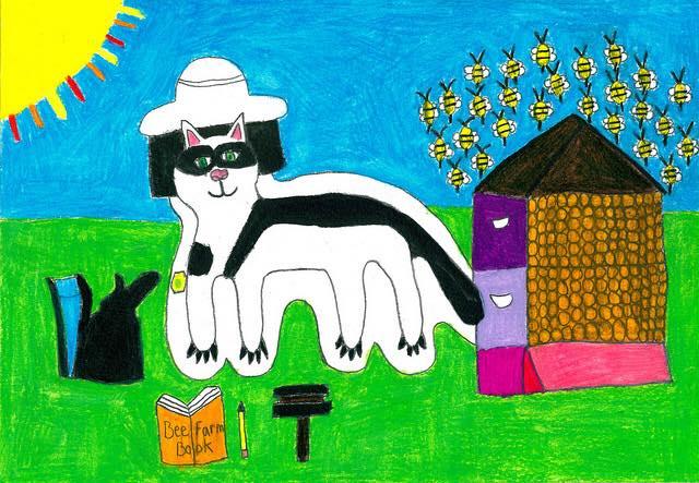 Cat as Beekeeper by Barbara Welborn