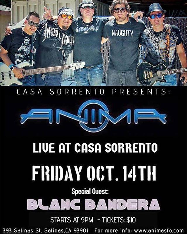 NEXT STOP.....SALINAS, CA! See you guys there! #Anima #Concert #Salinas #California #BayAreaRock #rockenespañol