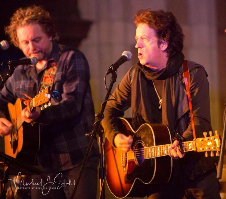 James Maddock, left, and Willie Nile at Outpost in the Burbs.