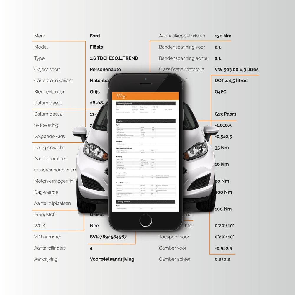 SVI-tec, Altijd compleet! - Geheel automatisch wordt uw dossier verrijkt en krijgt uw werkplaats een document met daarop uitgebreide technische informatie zoals; onderstelafstemming, aanhaalkoppels, vloeistoffen en onderhoudsinformatie.