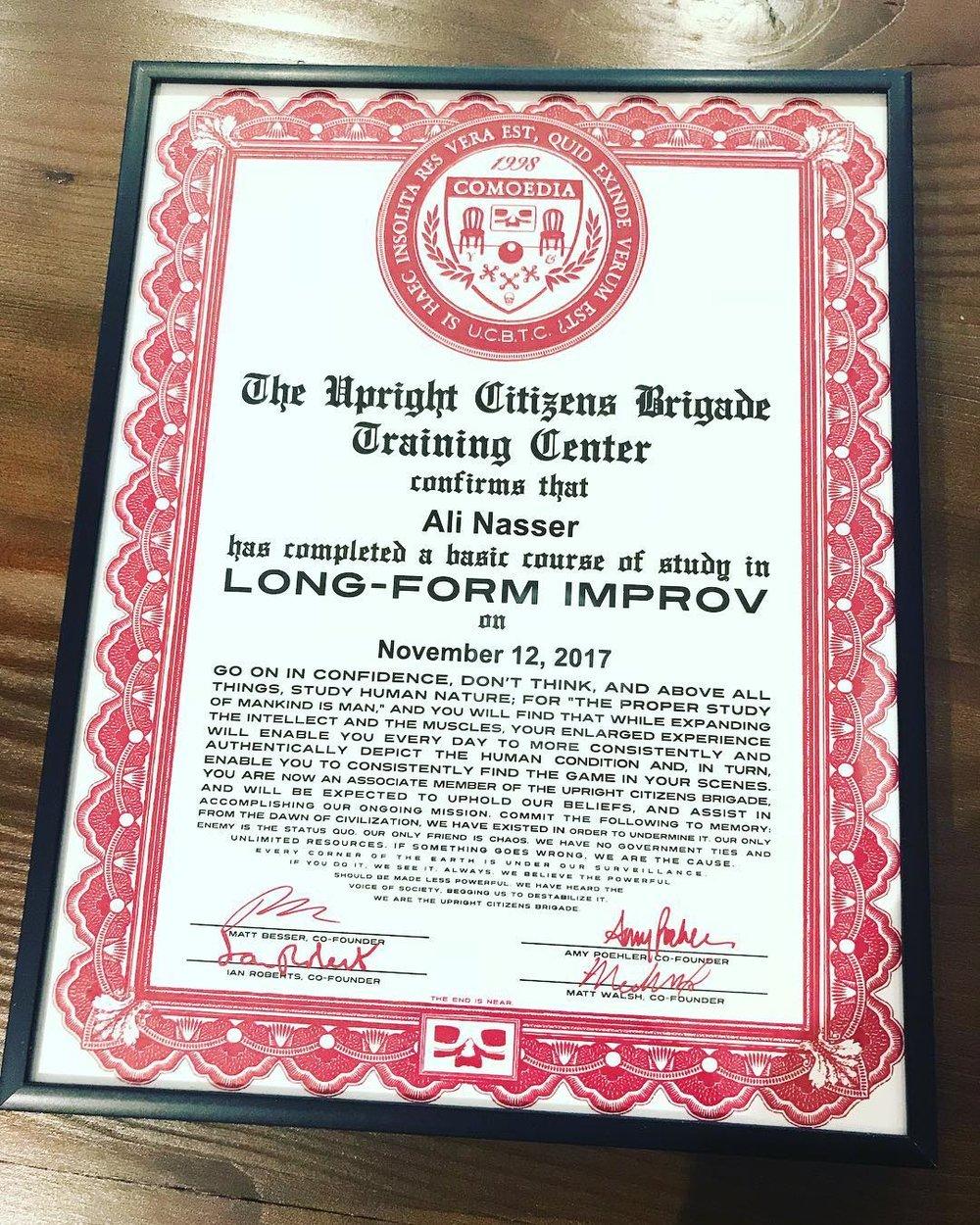 UCB Diploma