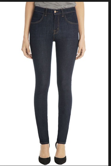 J.Brand dark high rise skinny jeans