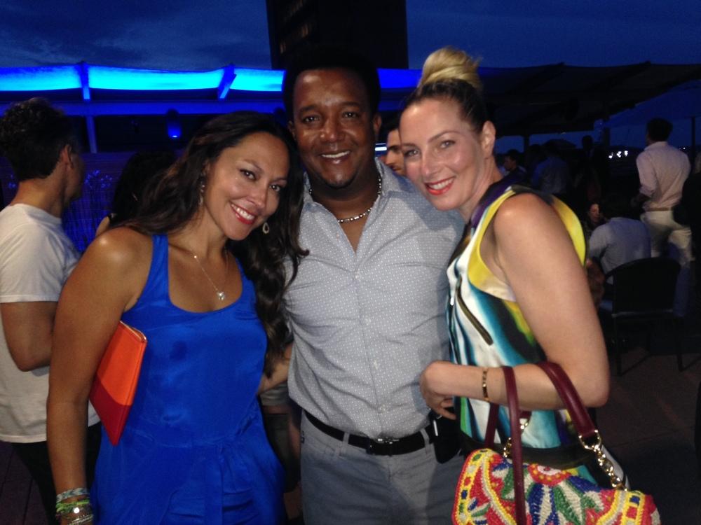 Jessica, Pedro Martinez & me