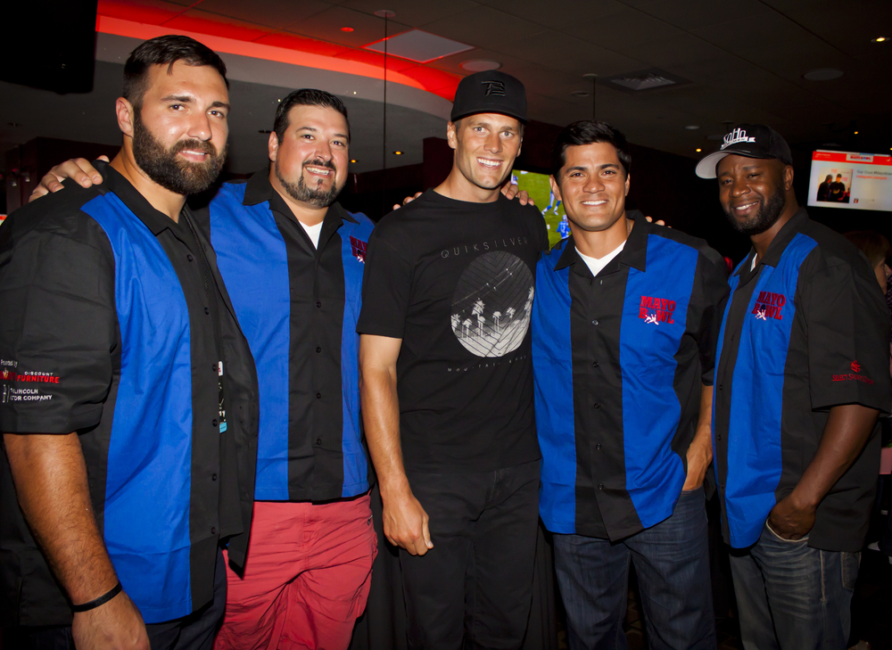 Rob Ninkovich, Joe Andruzzi, Tom Brady