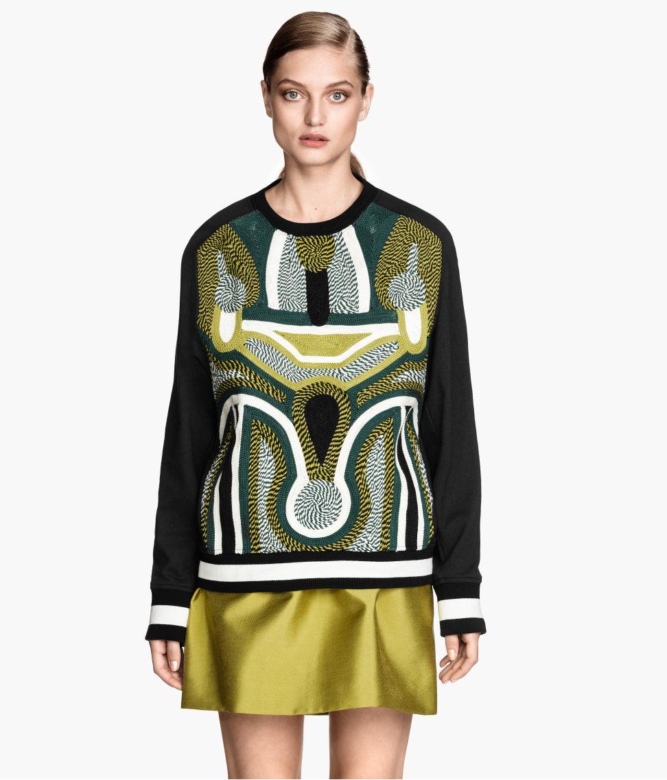 Cord-embroidered Sweatshirt