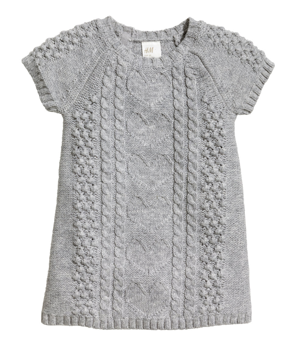 Pattern-knit Dress