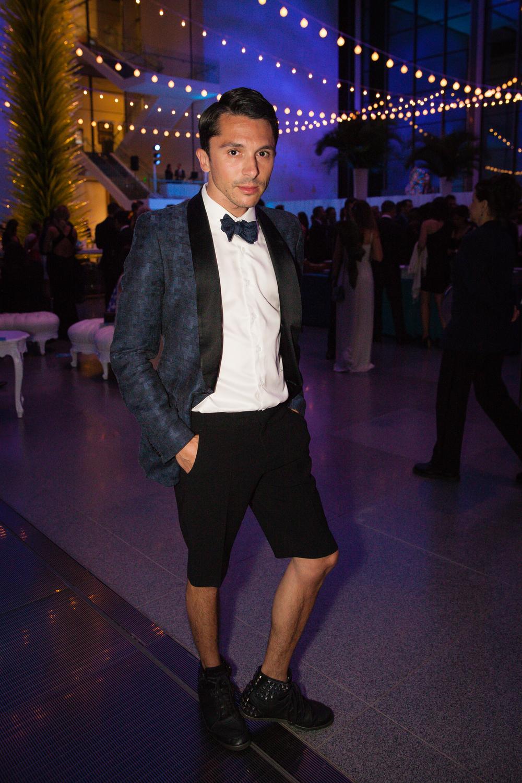 Joshua Janson~ Maison Margiela tux jacket, Ralph Lauren shorts, Hermes bow tie, Yohji Yamamoto shoes.