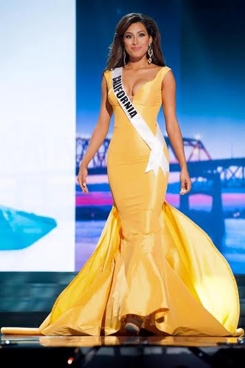 Miss California USA wearing April's earrings at Miss USA. April is a sponsor of California, Massachusetts, New Hampshire, and Maine Miss USA state pageants.
