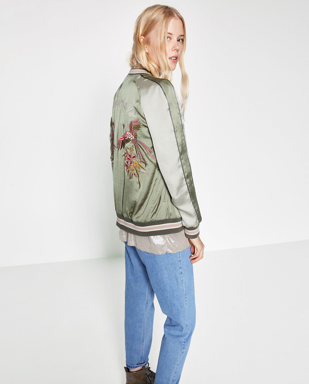 Zara Bird Embroidered Jacket