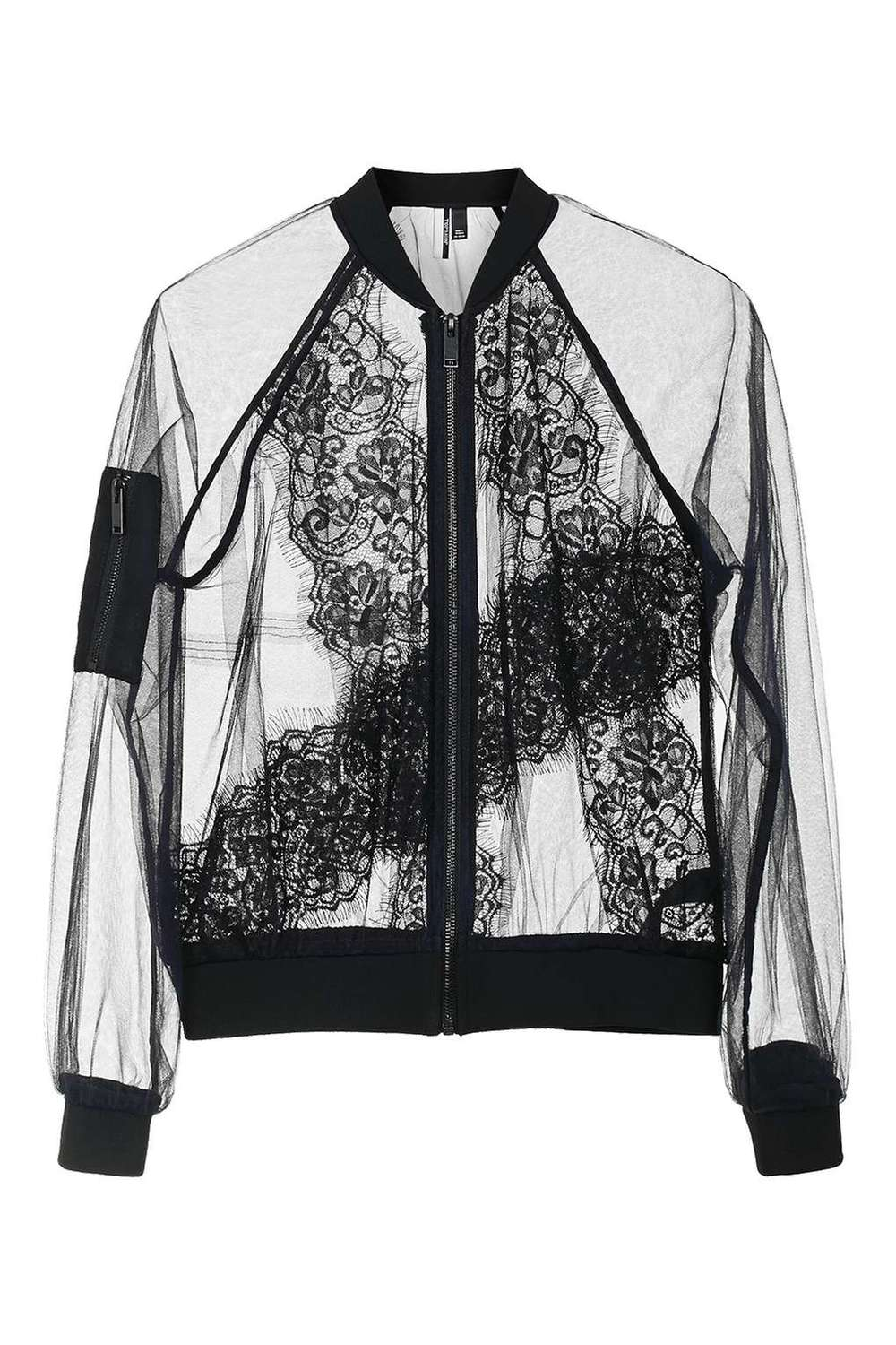 Top Shop Lace Bomber Jacket