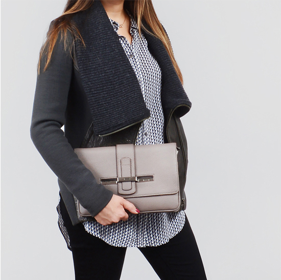 Helmut Lang Jacket and VBH Clutch