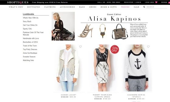 Guest Editor for shopping website, Shoptiques