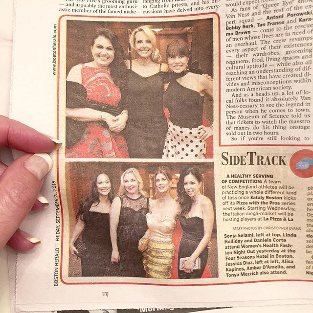 There is something so special about being surrounded by so many extraordinary women... lawyers, fashion designers, philanthropists, wellness experts and most importantly, all super moms ❤️ Love you girls and all that you do, with your whole heart, for the community! ❤️#bostonherald #womenshealth #fashionnightout