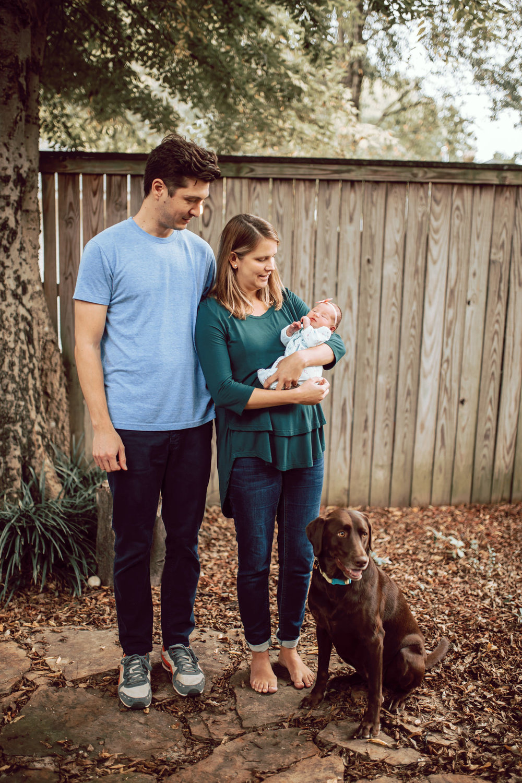 Memphis Newborn backyard full family