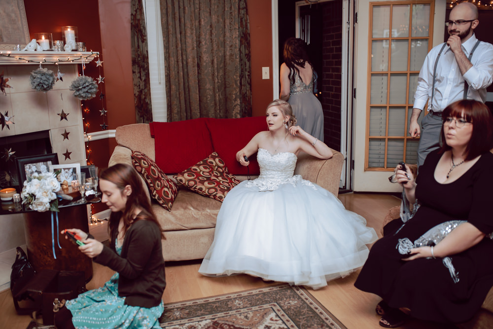 bride playing video games