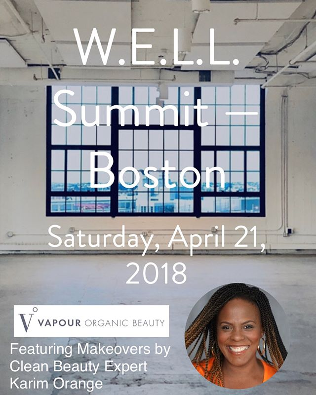 Today I'm offering you makeup💄 from my heart ❤️ to your face 👩🏼👩🏾! I am honored to be at W.E.L.L Summit with Vapour Organic Beauty.  They are launching 7 new shades, that I'm really excited to work with.