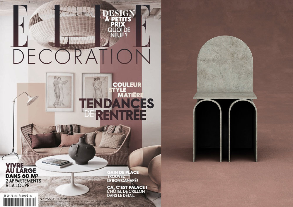 "COLLECTION GIORGIO _ G3  CHAIR IN ""  ELLE DECORATION FRANCE  "" _ SEPTEMBER 17"