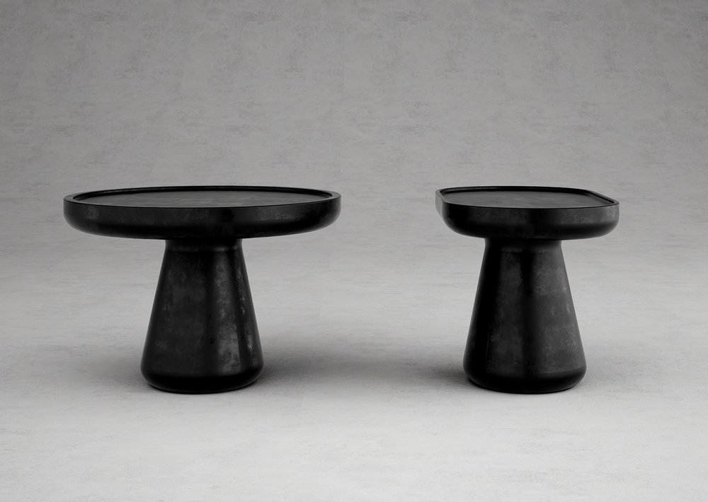 NEW COLLECTIBLE DESIGN _  SET OF 2 SIDE TABLES _  LIMITED EDITION OF 12