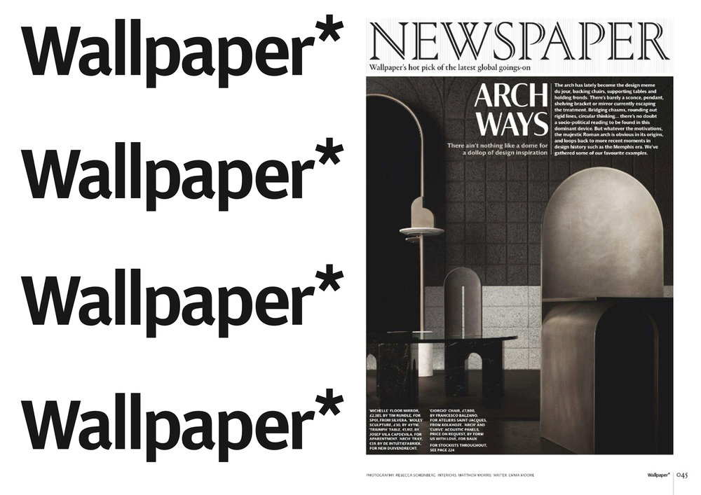 "GIORGIO _ G3  CHAIR IN ""  WALLPAPER* INTERATIONAL  "" _ JULY 18"
