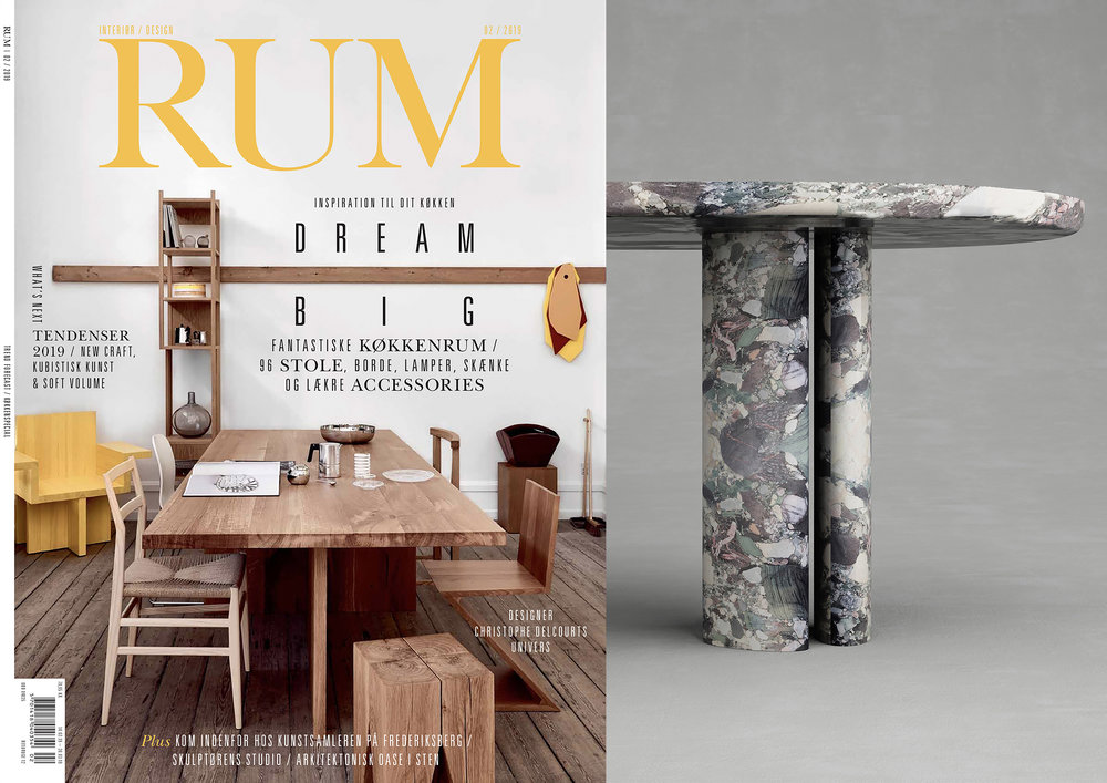 "COLLECTION DOLCE _ D4  DINING TABLE IN ""  RUM INTERNATIONAL  "" _ FEBRUARY 19"