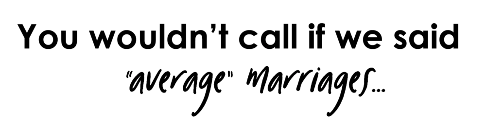 average marriages