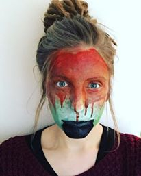 Part of an stop motion cauldren pot facepaint