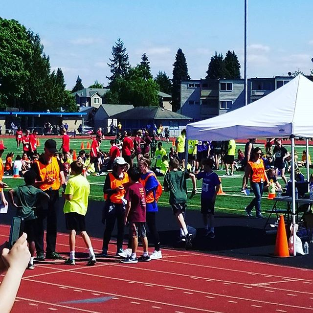 Wrapping up the morning CYO Track Meet #seattlearchdiocese