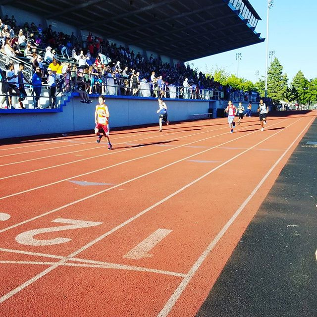 Such a great crowd at the CYO Track Meet! #seattlearchdiocese