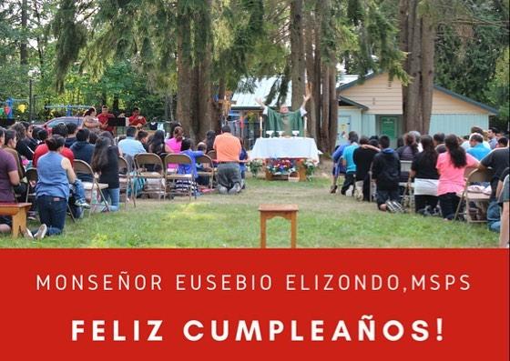 *En: Wishing Bishop Elizondo a very special birthday today. *Es: Deseando a Monseñor Elizondo hoy un feliz cumpleaños.