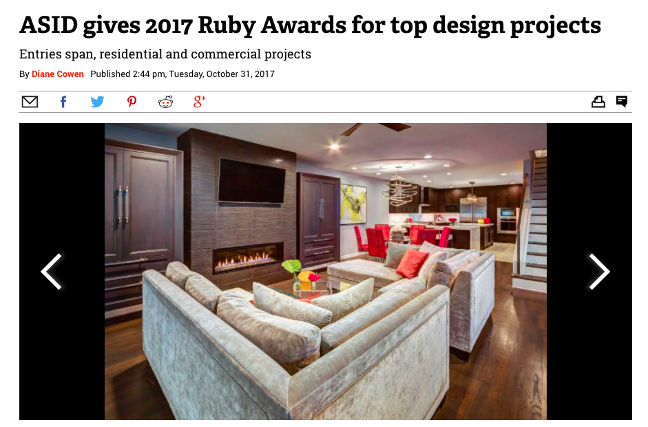 "Houston Chronicle - ""2017 ASID Ruby Awards"""