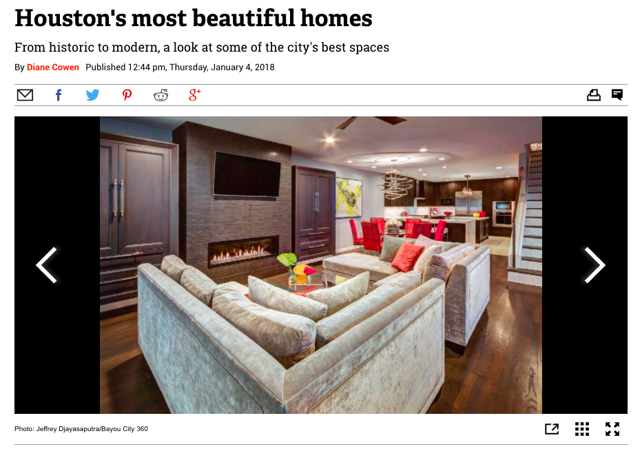 "Houston Chronicle - ""Houston's Most Beautiful Homes"""