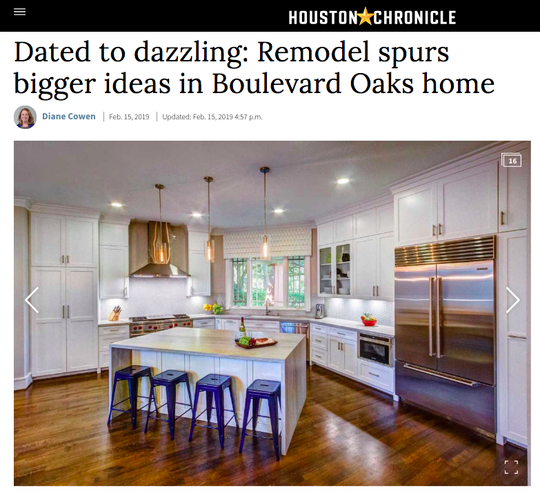 "Houston Chronicle - ""Dated to Dazzling"" Remodel"
