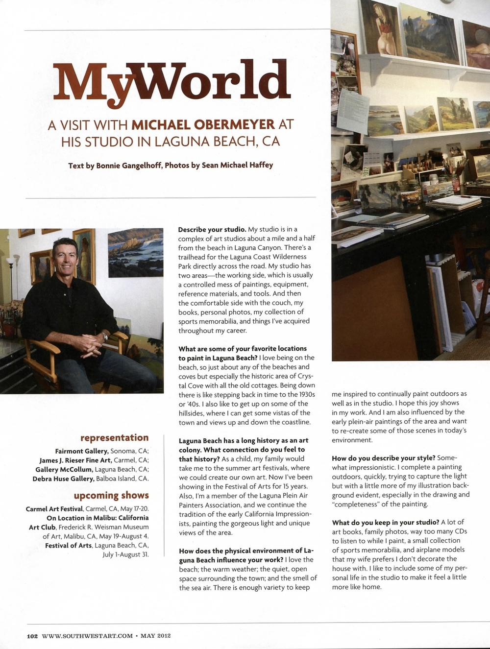 Southwest Art Magazine   May 2012