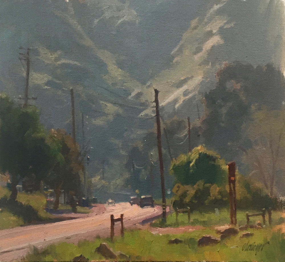 """Canyon Haze""     11""x 12""  oil"