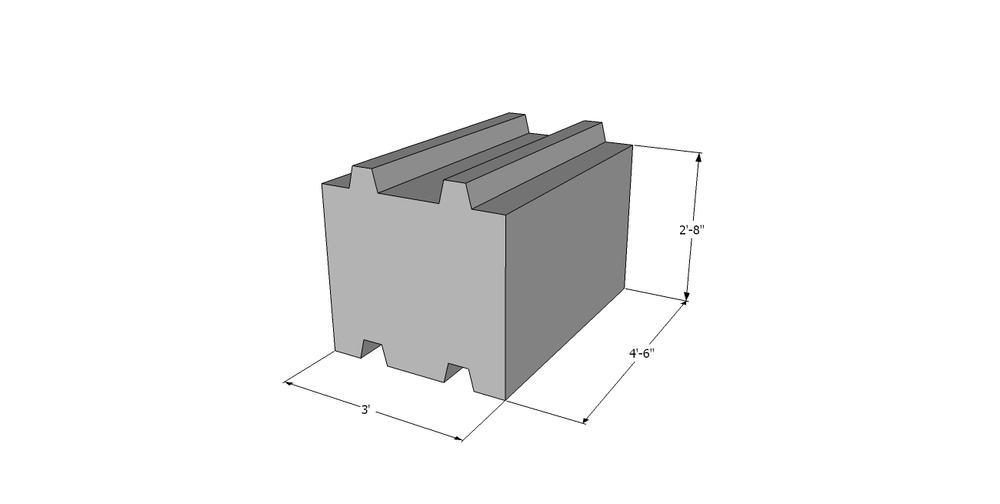 whole regular concrete block