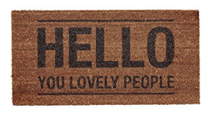 How cute is this doormat? $25 at  Amazon .