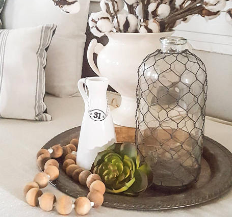 Wooden beads are the perfect addition to a coffee table display! These are from  Etsy  and are only $16!