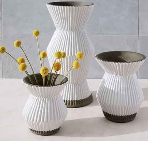 These vases are so cute! Perfect for styling your bookshelf, open kitchen shelving, etc. They are on sale too! Buy  here .