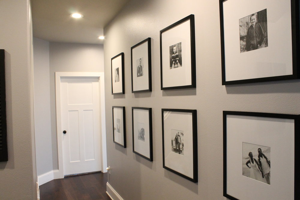 Long hallways call for a gallery wall.