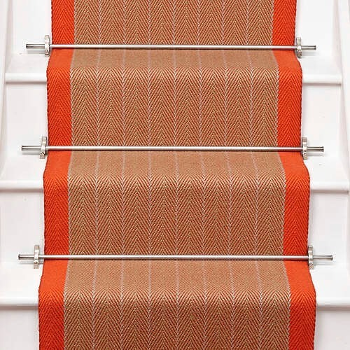 Busy day with a new project. Today's trio is a sneaky preview of how the scheme is coming together #autumnalcolours #samples #newproject #moodboard #interiors #interiordesign #interiordesigner #yorkshiredesigner #hallway #boldinteriors #pleaseaddcolour #stripedcarpet #stairrods #traditionalinteriors #patternedtiles #ontrend #staircarpet