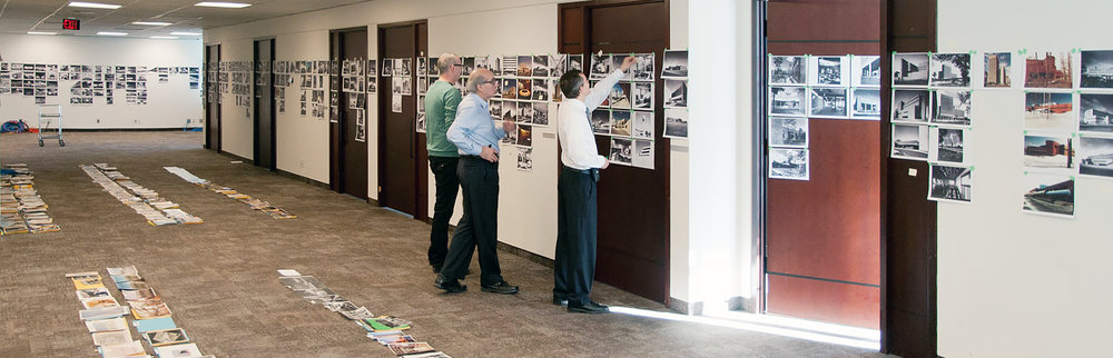 Selection process of NORR's extensive photo library.
