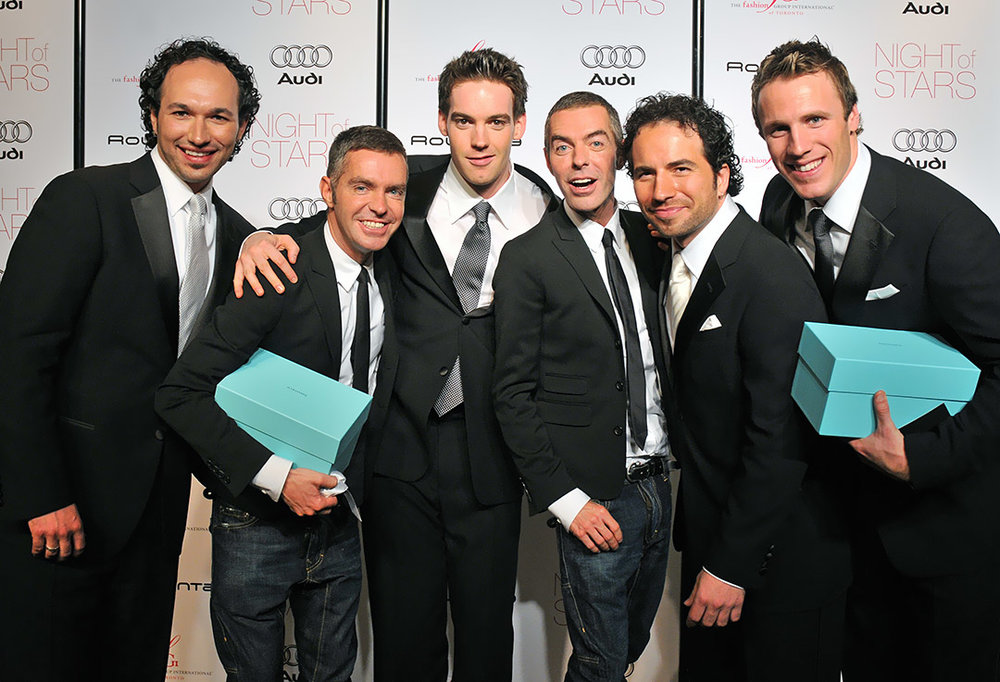 Fashion designers Dan & Dean Caten (Dsquared²) and vocal group The Tenors