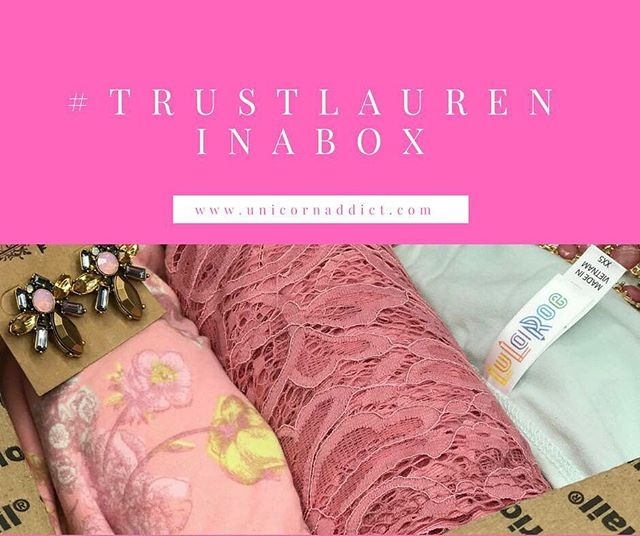 Hi loves! Head over to our Facebook VIP group to see what we're up to now! 😍🦄 #TrustLauren in a box! #LuLaRoe #LuLaRoefashionconsultant #LuLaRoefashion #LuLaRoewithLaurenGifford #LuLaRoeUnicornAddict