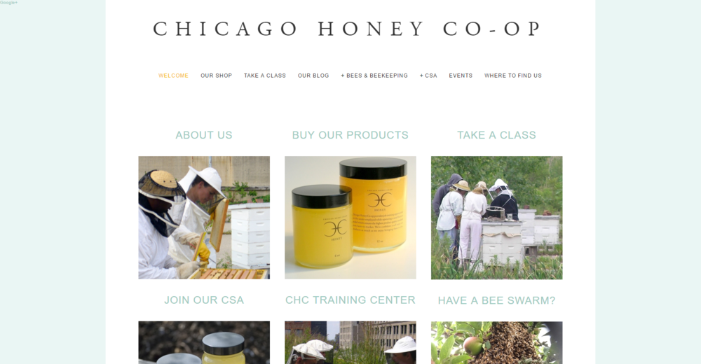 CHICAGO HONEY CO-OP - Established in 2004, Chicago Honey Co-op needed a website that would meet several needs, tell the story of the company, provide beekeeping information and host an online store.Services provided - responsive website design, product photography, copywriting and editing, social media integration and management.