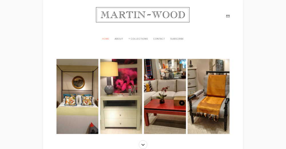 MARTIN-WOOD SHOWROOM - In addition to a visual update, this furniture showroom in Chicago's Merchandise Mart wanted to add more product images than it's old website would allow. Services provided - responsive website design, image aquisition, copywriting and editing, Facebook page integration