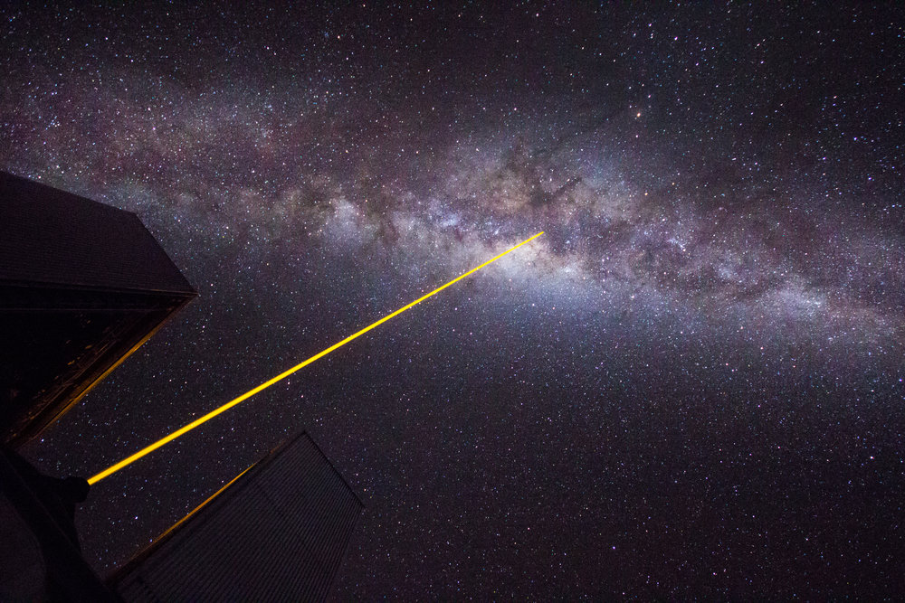 Yup. UT4 is observing Sgr A* here, the four million solar mass black hole in the very center of our galaxy. © Dr. Grant Tremblay