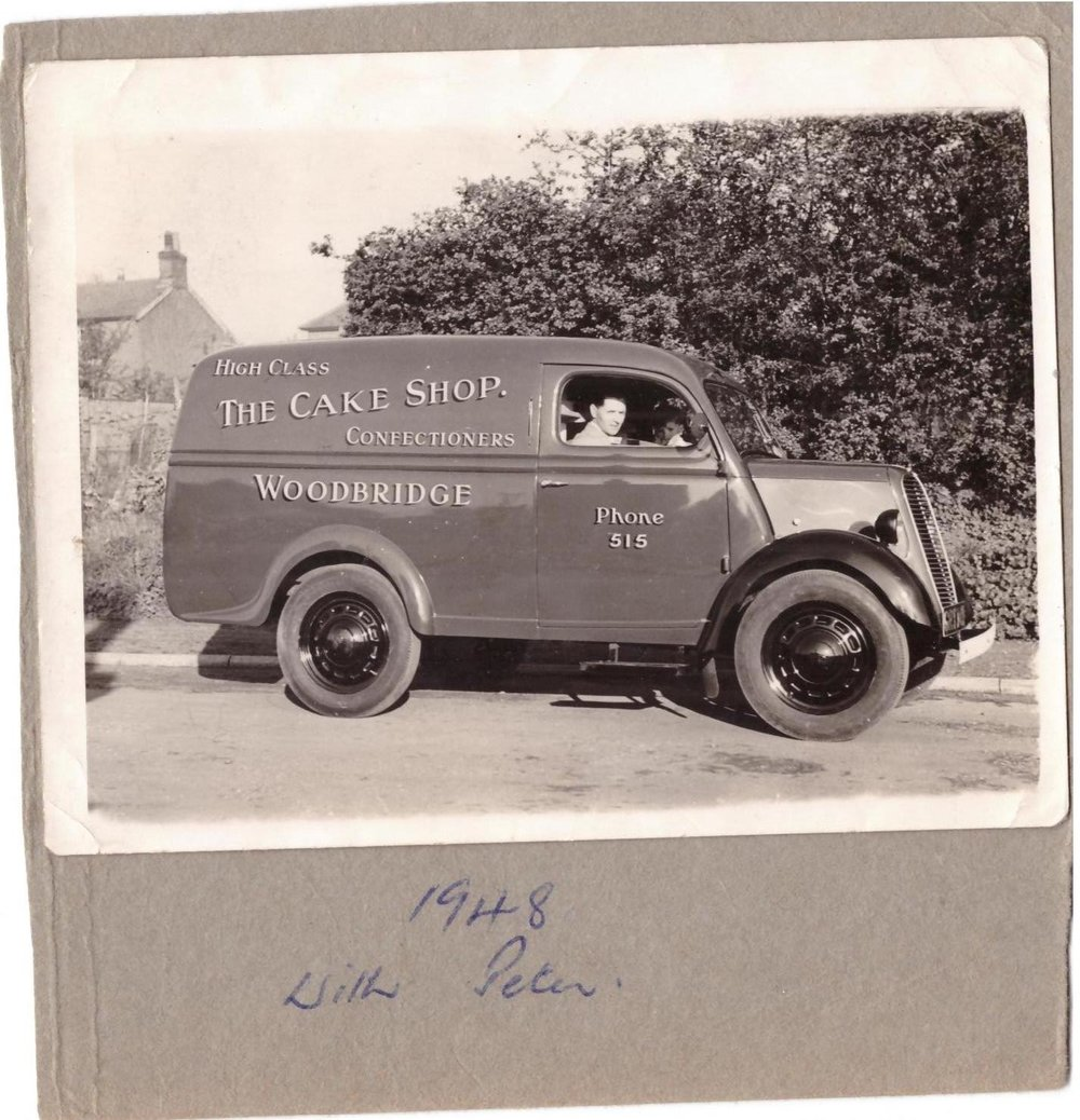 David's Grandfather's van in 1948